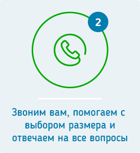 Звоним и уточняем данные по заказу
